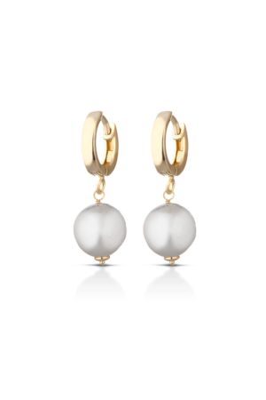 earings bella pearls gold 1