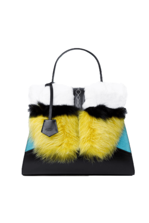 fur sabrina yellow black 1