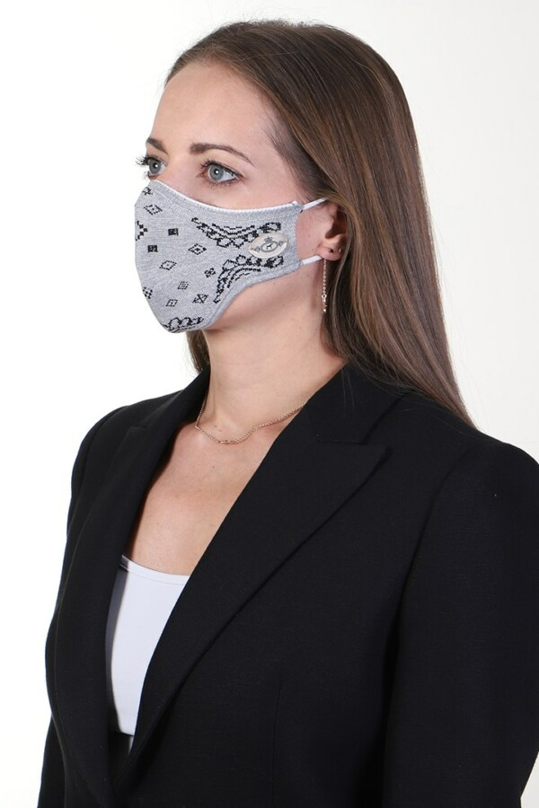 mask jacquard grey