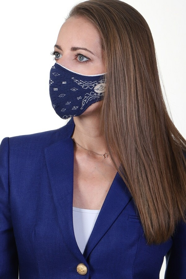 mask jacquard navy