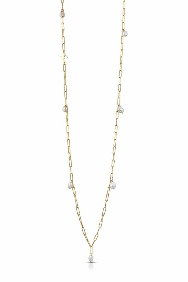pearls necklace gia in sterling silver