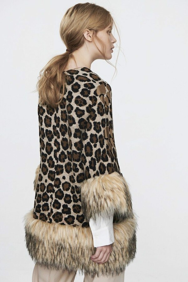 coat leopard regatta