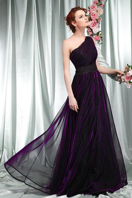 fit-and-flare prom dress