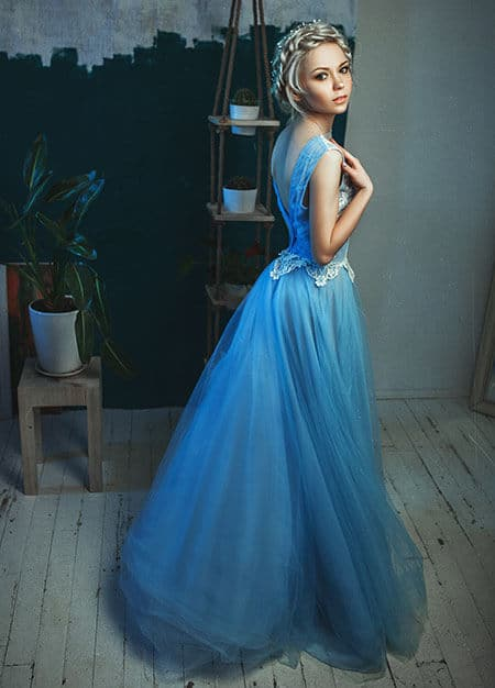full-length ball gown