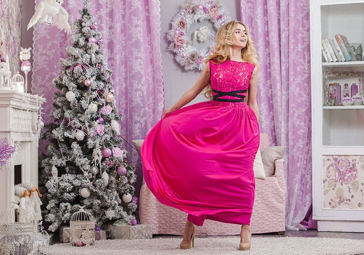 pink beautiful semi-formal dress