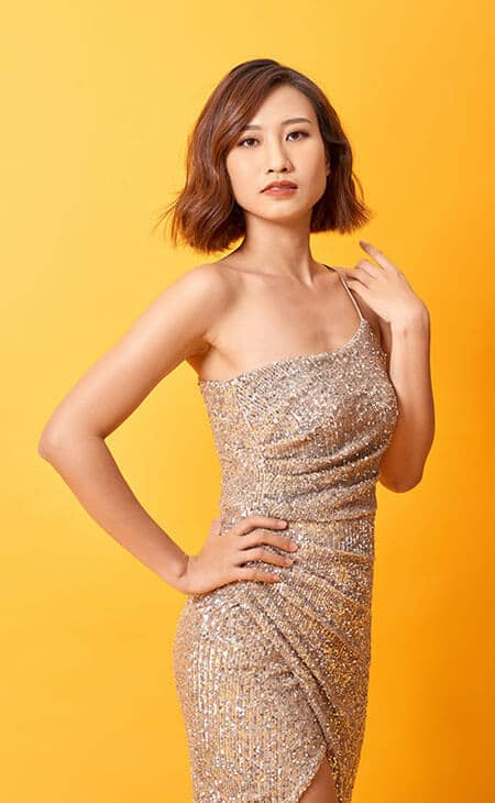 semi-formal gold dress