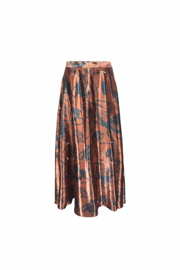 copper maxi skirt alkaid