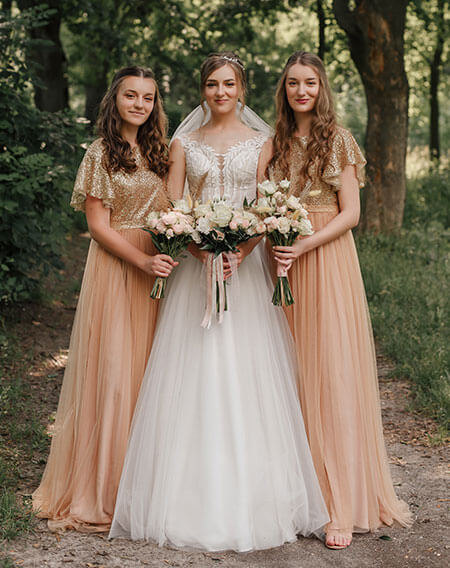 sparking bridesmaid dresses