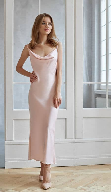 pink dress for a wedding guest