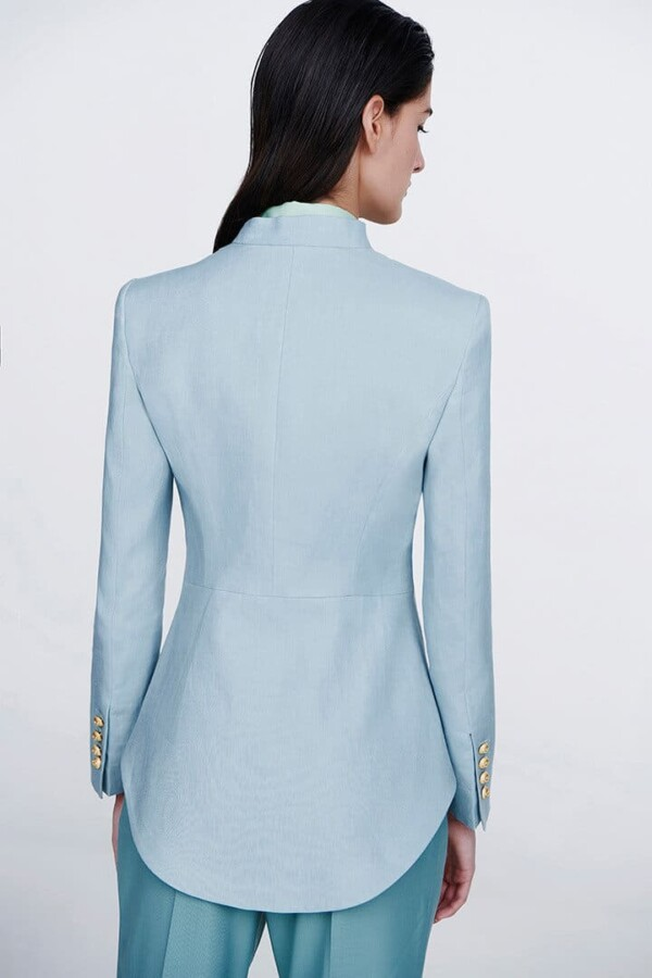 light blue military blazer valentina