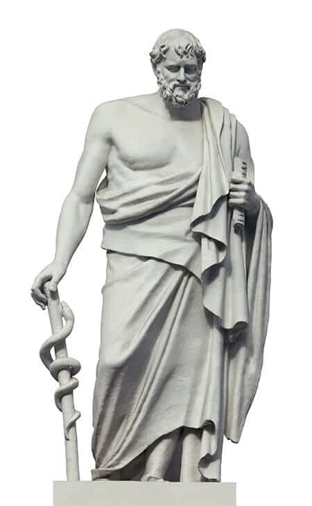 ancient greek statue of hypocrates