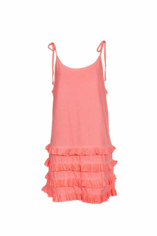 fluor pink california dress 1
