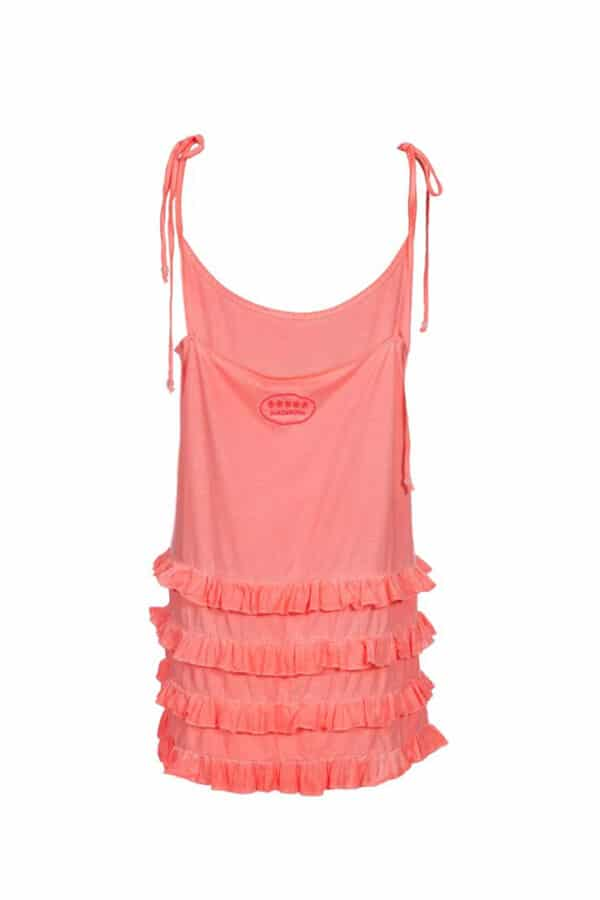fluor pink california dress 2