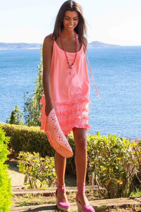 fluor pink california dress 3